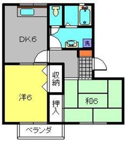 ハイム飯倉B2階Fの間取り画像