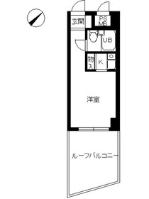 スカイコート横浜日ノ出町3階Fの間取り画像