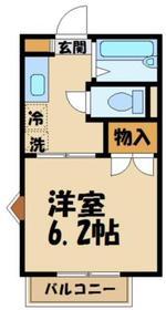ヴェルボナール2階Fの間取り画像