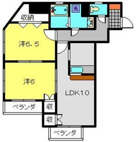 クレール九電3階Fの間取り画像