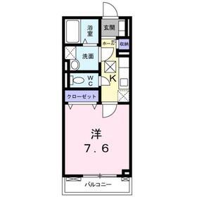 シャトーブラン1階Fの間取り画像