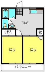 栄ハイツ2階Fの間取り画像