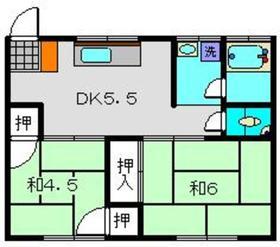 武美荘A1階Fの間取り画像