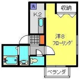 セレ上永谷2階Fの間取り画像