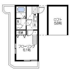 エスパシオ横浜鶴見2階Fの間取り画像