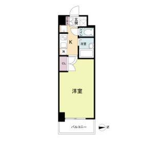 フォレシティ日本橋Ⅴ13階Fの間取り画像