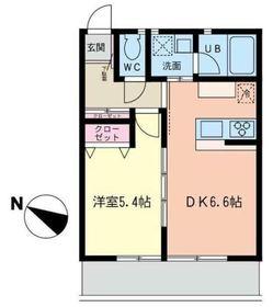 ルナージュ弐番館3階Fの間取り画像