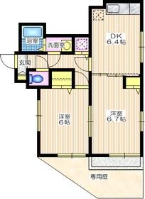 メゾンファミール1階Fの間取り画像