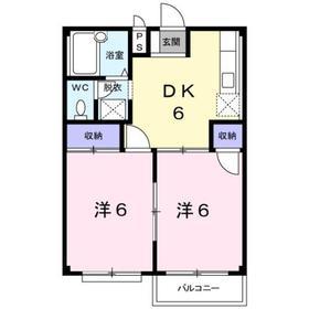 エルディム新栄2階Fの間取り画像
