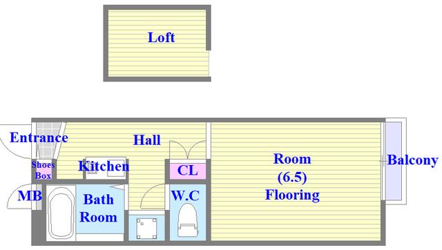 レオパレス菱屋西 ロフト付きのお部屋になります。