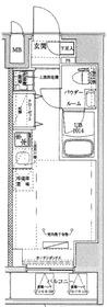 クラリッサ川崎ブルーノ5階Fの間取り画像