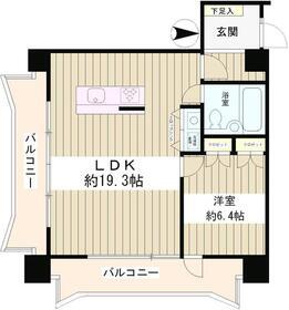 カーサクロヤナギ5階Fの間取り画像