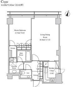 ラ・トゥール青葉台23階Fの間取り画像