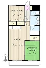生田駅 バス7分「生田高校前」徒歩2分4階Fの間取り画像