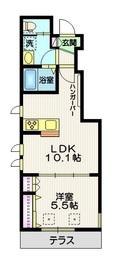 (仮称)桜新町1丁目メゾン1階Fの間取り画像