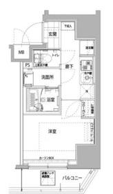 ハーモニーレジデンス横浜大通り公園2階Fの間取り画像