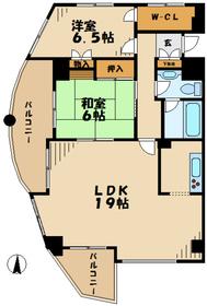 京王永山駅 徒歩9分4階Fの間取り画像