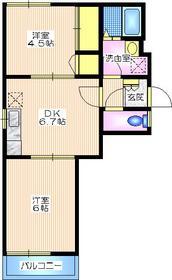 ラ・スペランサ1階Fの間取り画像
