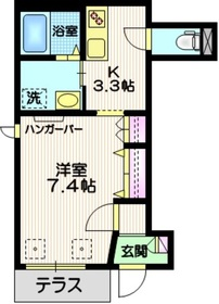小田1丁目ヘーベルメゾン1階Fの間取り画像