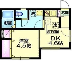 エクセル三田1階Fの間取り画像