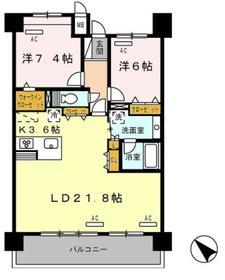 ロイヤルパークス豊洲10階Fの間取り画像