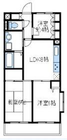 ラフィネ相武台Ⅲ3階Fの間取り画像