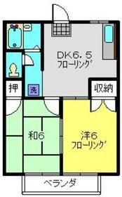綱島駅 徒歩17分2階Fの間取り画像