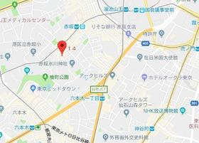 赤坂駅 徒歩4分案内図