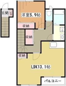 アムール2階Fの間取り画像