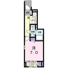 メゾンドソレイユ1階Fの間取り画像