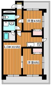 平和台駅 徒歩9分2階Fの間取り画像