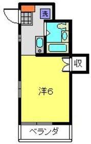フリーデンアイカワ1階Fの間取り画像