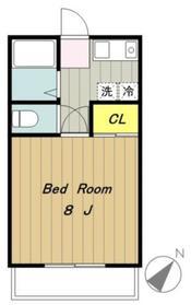 アムールhashimotoI3階Fの間取り画像