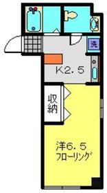 Castle M(キャッスル M)2階Fの間取り画像