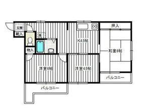 第2粟飯原マンション3階Fの間取り画像