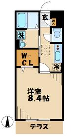 本厚木駅 徒歩18分2階Fの間取り画像
