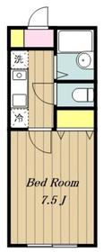 本厚木駅 バス18分「依知小学校前」徒歩2分2階Fの間取り画像
