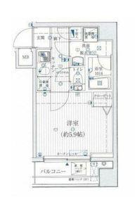 リライア吉野町3階Fの間取り画像