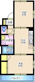 メゾンパサニア1階Fの間取り画像