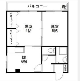 西横浜駅 徒歩8分5階Fの間取り画像
