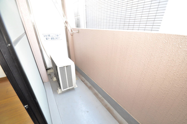 リンクスイン東大阪Part2 単身さんにちょうどいいサイズのバルコニー。