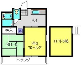 サン・クレール横浜A棟2階Fの間取り画像