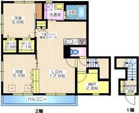 メゾン・ド・ラ・ブリエ2階Fの間取り画像