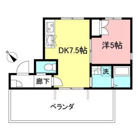 フォレストコート渋谷4階Fの間取り画像