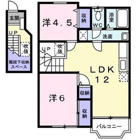 ジェンティーレ・メゾン2階Fの間取り画像