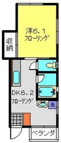 天王町駅 徒歩18分1階Fの間取り画像
