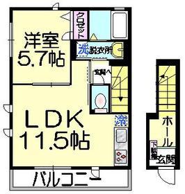 ルミエールMW・ME2階Fの間取り画像