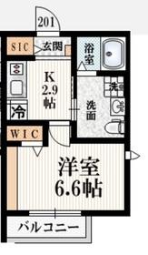 メゾン・ド・シャノワール2階Fの間取り画像