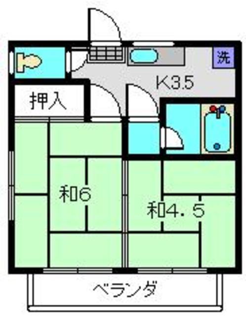 ロイヤルB間取図