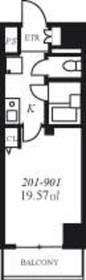 スカイコート銀座東3階Fの間取り画像